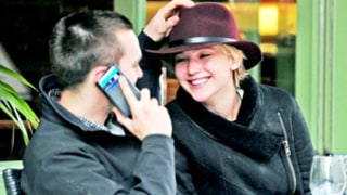 Jennifer Lawrence, Nicholas Hoult Giggle, Hold Hands on Afternoon Date in London: Picture