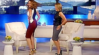 Katie Couric Teaches Sofia Vergara a Sexy Dance Move on Talk Show