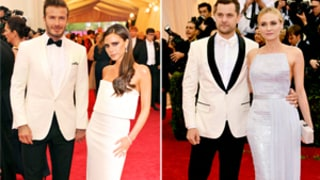 Victoria and David Beckham vs. Diane Kruger and Joshua Jackson: Which Couple Wore White Best at the Met Gala 2014