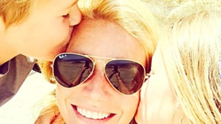 Gwyneth Paltrow Gets Mother's Day Kisses From Kids Apple and Moses: Picture