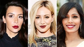 Kim Kardashian, Hilary Duff, Freida Pinto Wear Dark Lipstick: How to Try the Beauty Trend This Spring