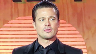 Brad Pitt Dances, Plays Tambourine Onstage With Bruno Mars at Make It Right Gala