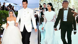 Kim Kardashian's Wedding Dress to Kanye West Compared to Her Kris Humphries Gown: Which Style Ruled?