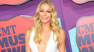 LeAnn Rimes Flashes Leg, Cleavage in Skimpy White Dress at CMT Music Awards: Picture