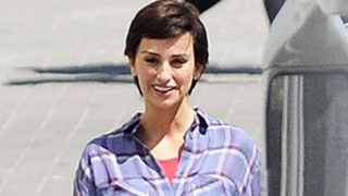 Penelope Cruz Sports Short, Pixie Haircut on Set: Picture