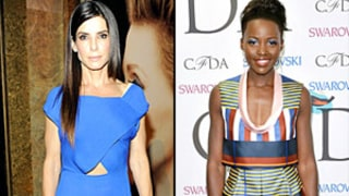 Sandra Bullock, Lupita Nyong'o, January Jones in Cobalt: How to Wear the Trend