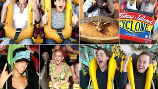 Celebs on Roller Coasters