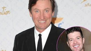 Wayne Gretzky and Robin Thicke
