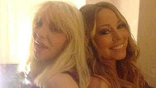 Courtney Love, Mariah Carey Pose Back-to-Back in Epic Picture