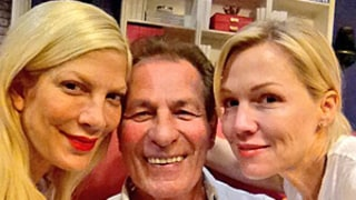 Beverly Hills, 90210 Stars Tori Spelling, Jennie Garth, and Joe E. Tata Reunite on Mystery Girls: Picture