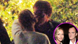 Uma Thurman, Quentin Tarantino Kiss After Dinner Date: Picture