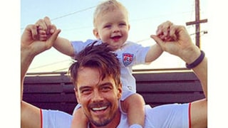 Josh Duhamel Roots for Team USA With Baby Son Axl on His Shoulders: Sweet Picture