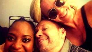 Sherri Shepherd, Jenny McCarthy All Smiles After View Departure Announcement, Pose for Picture with Donnie Wahlberg
