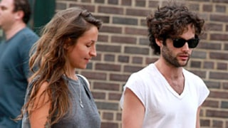 Penn Badgley, New Girlfriend Domino Kirke Wear Denim Shorts for Date Night in NYC: Picture