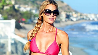 Denise Richards Looks Perfectly Toned in Pink Bikini, Enjoys Day at Beach: Picture