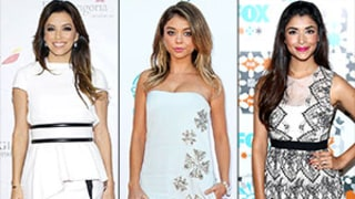 Eva Longoria, Sarah Hyland, Hannah Simone Wow in White Dresses Over the Weekend: See Their Stylish Looks