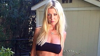 Tara Reid Strikes a Sultry Pose in Teeny Tiny Black Bikini, Looks Super Skinny: Picture