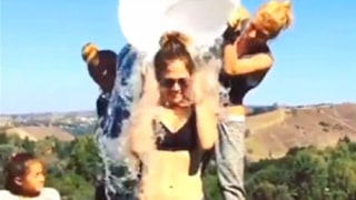 Ice Bucket Challenge Celebrity Participants Like Jennifer Lopez, Justin Timberlake Dump Freezing Water Over Their Heads: Watch Us Weekly's Master Cut Video