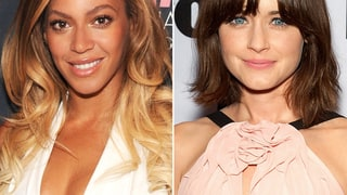 Beyonce Knowles and Alexis Bledel