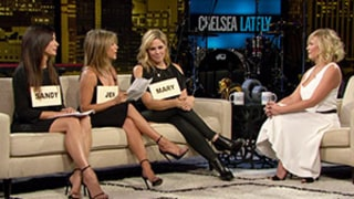 Justin Theroux, Jennifer Aniston Toast Chelsea Handler During Chelsea Lately Series Finale Dinner