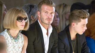 David Beckham, Son Brooklyn Sit Next to Anna Wintour at Victoria Beckham's NYFW Show: Picture