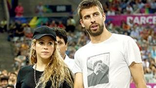 Shakira Debuts Baby Bump, Kisses Gerard Pique at Basketball Game After Second Pregnancy Announcement
