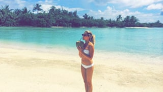 Ashley Tisdale Sips Coconut in Bikini on Her Honeymoon, Adds French to Twitter Name