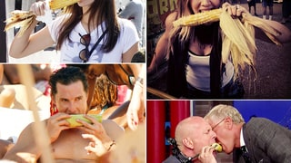 Celebrities Chowing Down On Corn On the Cob!