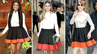 Nicki Minaj, Olivia Palermo, and Emma Stone Wear Same Valentino Color-Block Dress: Who Wore It Best?