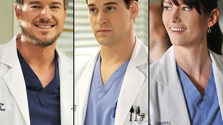 Mark Sloan (Eric Dane), George O'Malley (T.R. Knight), Lexie Grey (Chyler Leigh) on Grey's Anatomy