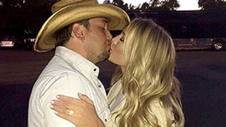 Jason Aldean Kisses Fiancee Brittany Kerr After Engagement: See a Picture of Her Ring