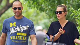 Derek Jeter Hangs With Girlfriend Hannah Davis After Playing Last Yankees Game: Photos