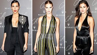Kim Kardashian, Rosie Huntington-Whiteley, and Selena Gomez Battle For the Most Cleavage-Baring Look in Paris: See the Plunging Neckline Outfits