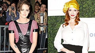 Kristen Stewart's Leather Overalls vs. Christina Hendricks' Golden Turban: Which Risky Look Would You Try at Home?