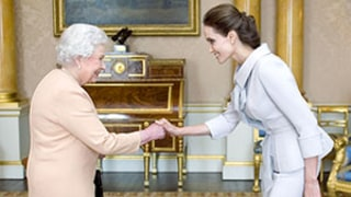 Angelina Jolie Meets Queen Elizabeth II to Receive Honorary Damehood: Brad Pitt, Kids In Attendance as Well