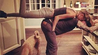 Adam Levine, Wife Behati Prinsloo Do Strange Yoga Position: Cute Picture