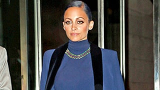 Nicole Richie Matches A Blue Tuxedo Outfit to Her Hair: See the Bright Ensemble