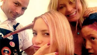 Kate Hudson, Goldie Hawn Add Pink Streaks to Hair For Breast Cancer Awareness Month: Picture