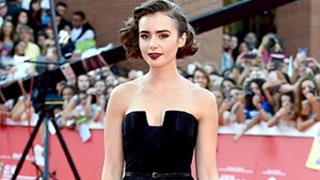 Lily Collins' Violet Elie Saab Dress Rules the Red Carpet in Rome: Swoon with Us Over the Elegant Gown