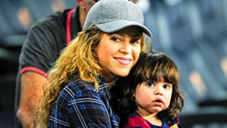 Shakira and Baby Milan Cheer on Gerard Pique at Soccer Match: See the Pregnant Star, Adorable Son