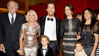 Matthew McConaughey Hits Red Carpet With Adorable Children, Mother, Camila Alves: Pictures