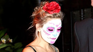 Kate Hudson Dresses As a Day of the Dead Sugar Skull for Halloween: See More Early Celebrity Costumes