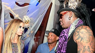Dennis Rodman Crashes Ex-Wife Carmen Electra's Halloween Party: Stare-Down Photo