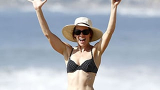 Hilary Swank Shows Toned Body, Abs in Polka-Dot Bikini With Boyfriend Laurent Fleury: Photos