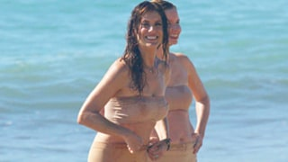 Kate Walsh Films on the Beach in Skimpy Nude Bikini: See Her Hot Body at Age 47