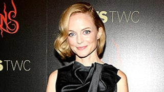 Heather Graham Shows a Lot of Leg, Goes Without Underwear in a Sheer Skirt: