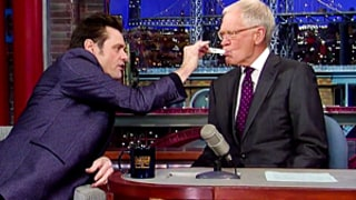 Jim Carrey Tests David Letterman for Ebola: