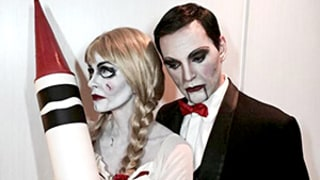 Courteney Cox Masters Creepy Annabelle Doll Costume With Fiance Johnny McDaid -- See the Scary Pics!