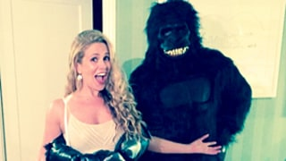 Donald Faison, Pregnant CaCee Cobb Reenact Famous King Kong Scene in Halloween Costumes: Picture