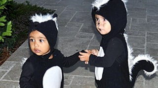 North West and Penelope Disick Hold Hands in Matching Skunk Costumes, Plus Axl Duhamel Wears Same Halloween Outfit